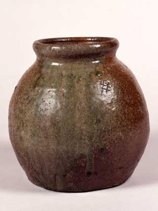 自然釉小壺